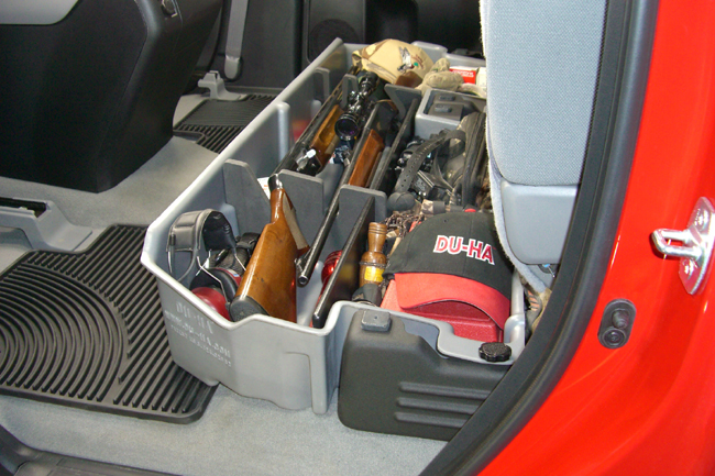 Truck Cab Organizer >> Behind Seat Or Underseat Storage For Truck Cabs With Gun Holder By
